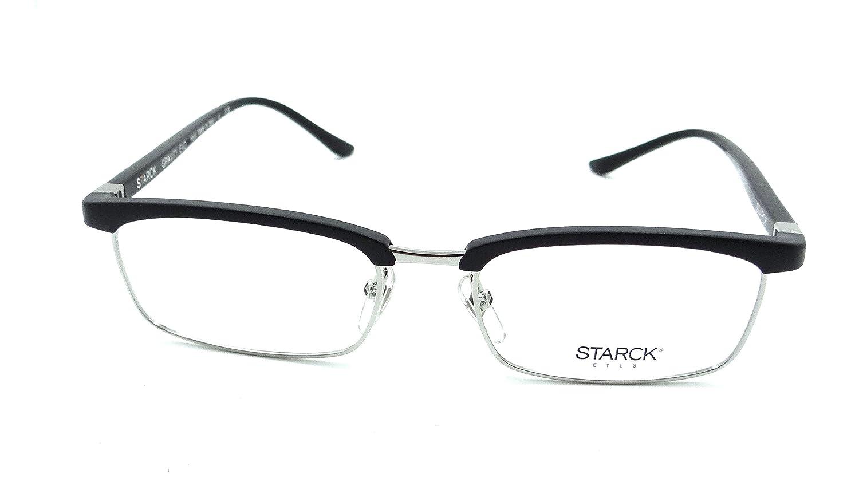 Starck Eyes Mikli Rx Eyeglasses Frames SH3041 0001 53-18-145 Silver Black Italy