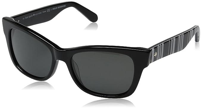 70f44380f6e Kate Spade Women s Alora p s Cateye Sunglasses Black Gray Polarized 53 mm