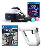 PlayStation VR Launch Bundle 3 Items:VR Launch Bundle,PSVR Aim Controller Farpoint Bundle,Mytrix HDMI Cable