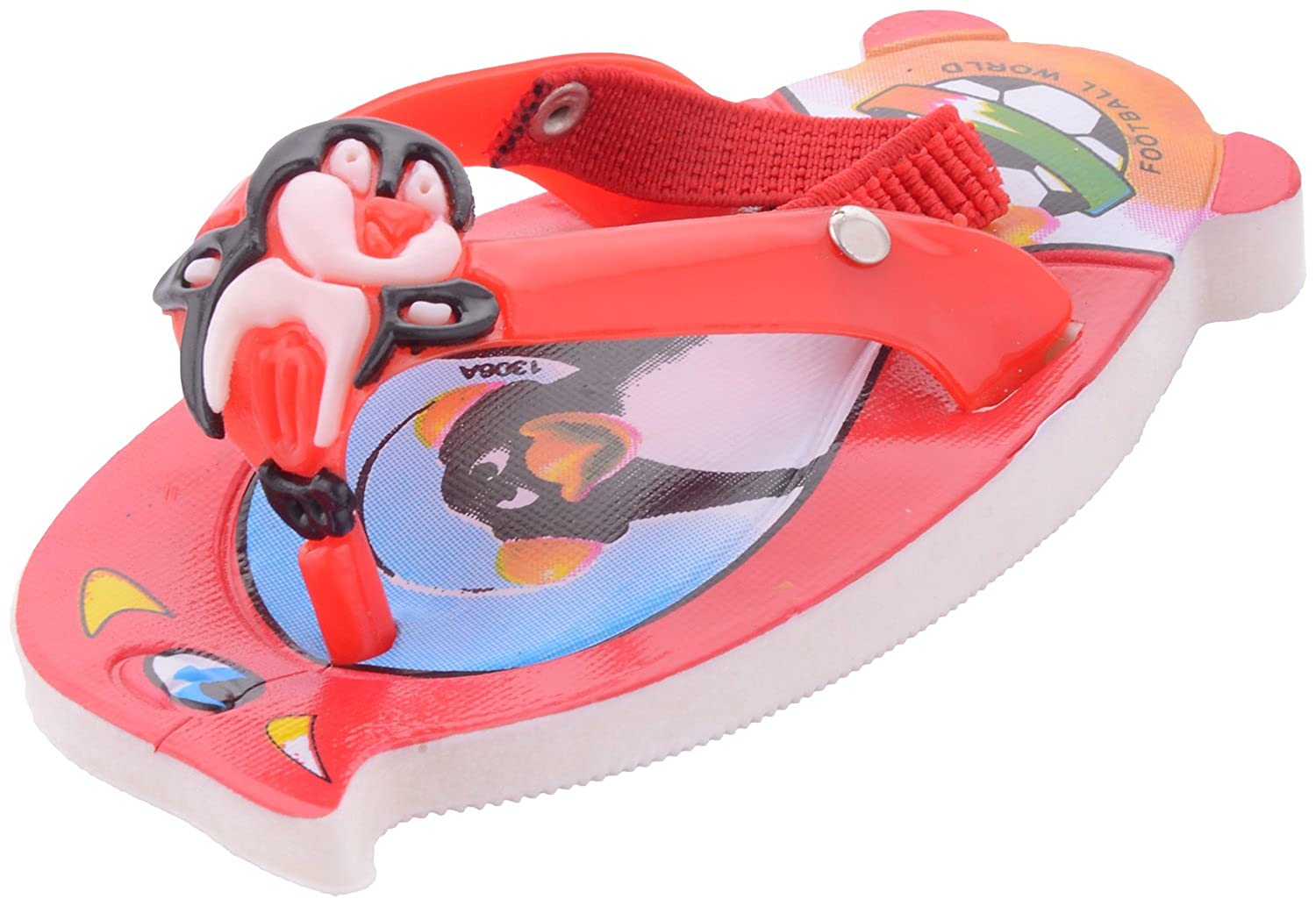 Baby Girls Red Rubber Sandals chappals