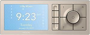 Moen TS3304TB U by Moen Shower Smart Home Connected Digital Bathroom Controller, 4-Outlet, Wall Mounted, Terra Beige