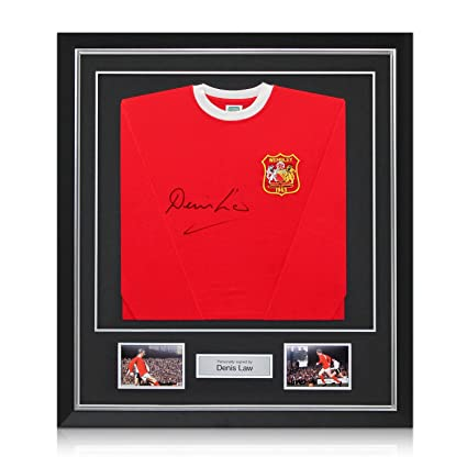 e98aba14f Deluxe Framed Denis Law Signed Manchester United 1963 FA Cup Winners ...