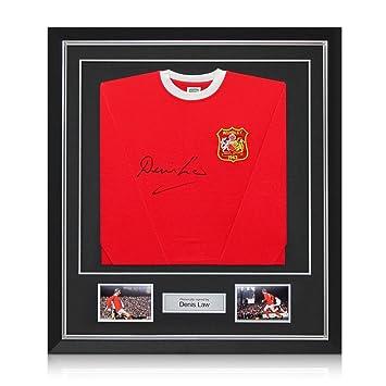 exclusivememorabilia.com Denis Law Firmado Manchester United FA 1963 del fútbol Recopa camiseta, de