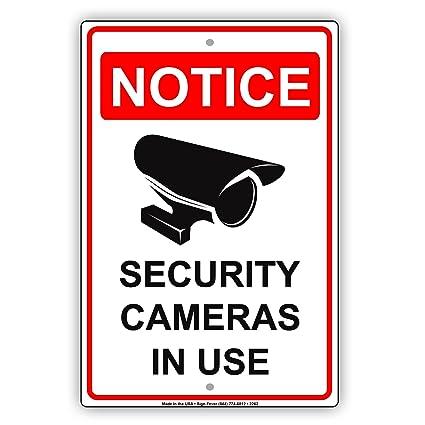 Aviso Cámaras de seguridad en uso con cámara gráfica de ...