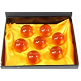 Collectible Medium Crystal Glass 7 Stars Balls - 7 Pcs Gift Box (43 MM in Diameter)