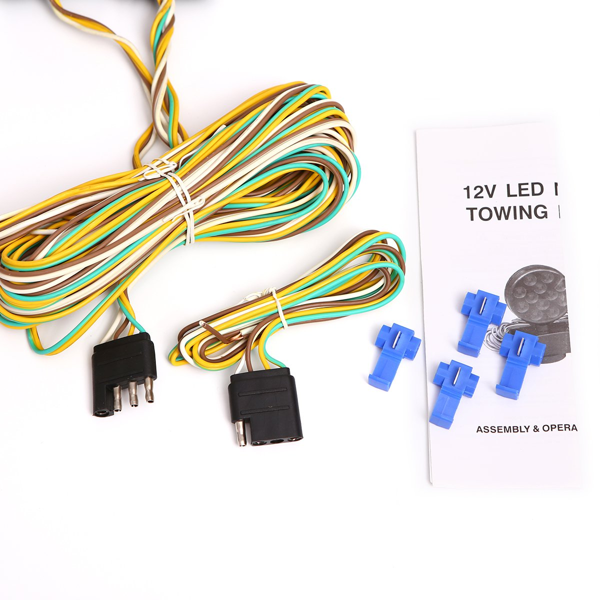 Czc Auto 12v Led Magnetic Towing Light Kit For Boat Trailer Rv Truck Wiring To Strength 55 Pounds 101018nj