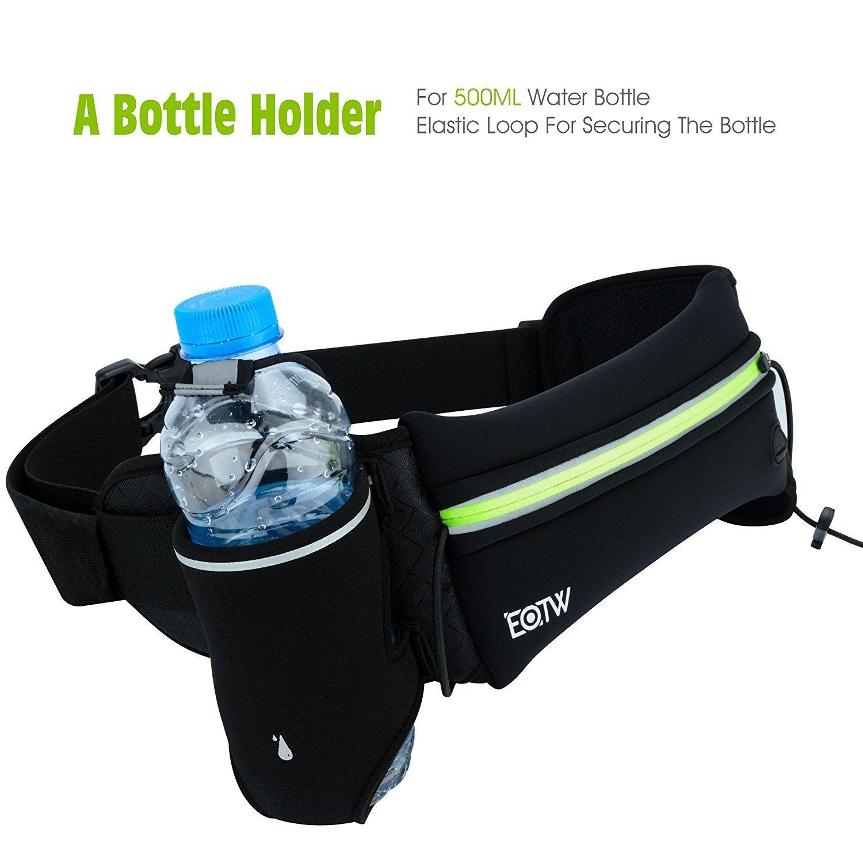 borsa nera verde EOTW Cintura da Cintura per Cintura Sportiva con Tasca per Bottiglia Dacqua per Donna Uiversale