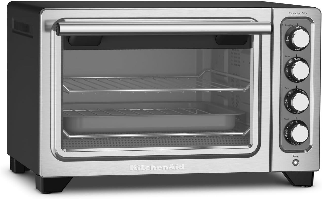 KitchenAid KCO253BM 12-Inch Compact Convection Countertop Oven - Black Matte