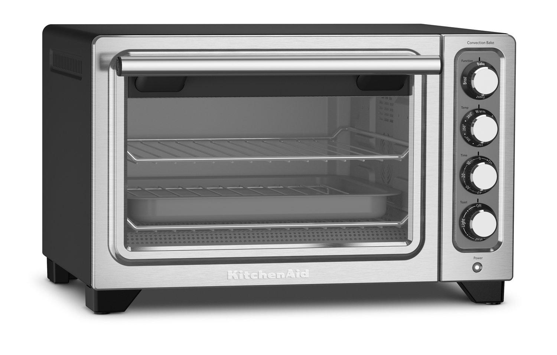 KitchenAid KCO253BM 12 Compact Convection Countertop Oven, Black Matte