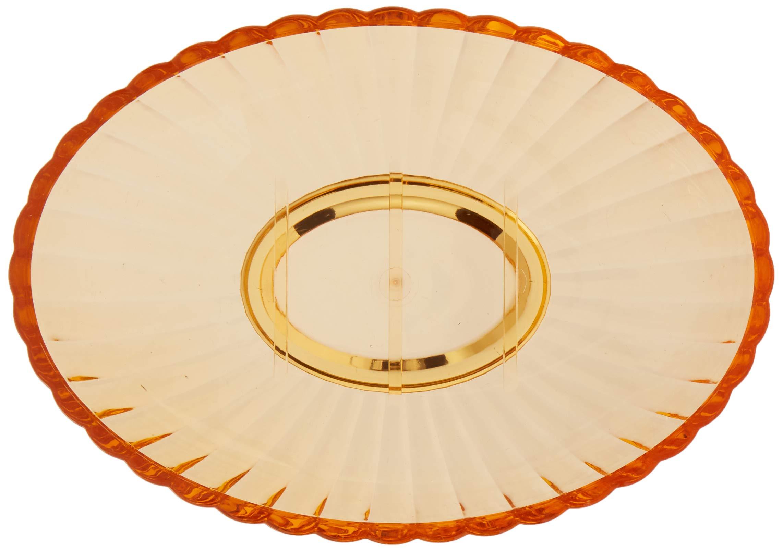 Carnation Home Fashions Ribbed Acrylic Soap Dish Orange