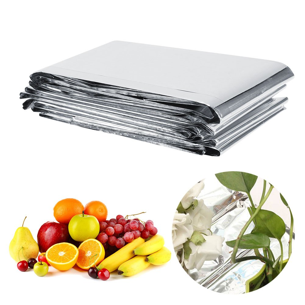 Bewinner Silver Plant Reflective Film 210 x 120cm Garden Greenhouse Covering Foil Sheets, Highly Reflective, Effectively Increase Plants Growth, 100% Environmentally Safe by Bewinner (Image #1)