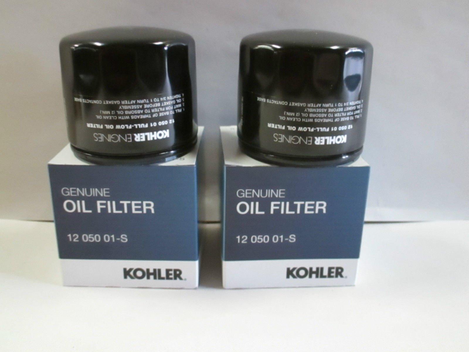 Kohler 12 050 01-S Oil Filter (Pack of 2) by Kohler