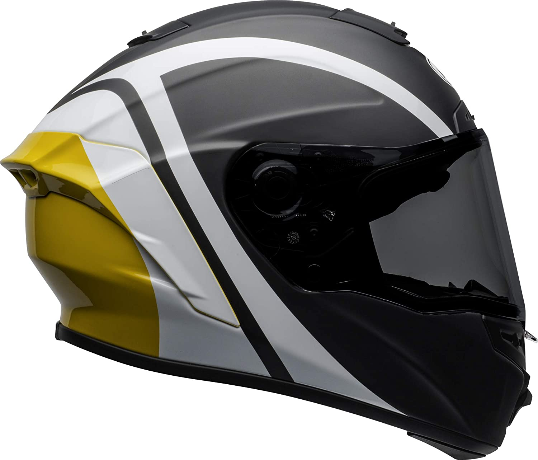 Bell Street 2020 Qualifier STD Adult Helmet Helmet Flare Gloss Black//Red Size Large