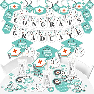 Big Dot of Happiness Medical School Grad - Doctor Graduation Party Supplies - Banner Decoration Kit - Fundle Bundle: Toys & Games