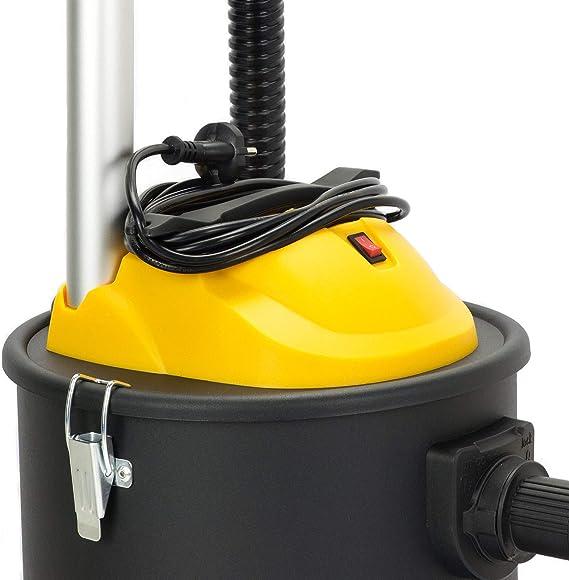 SELLNET SN131 - Aspirador de cenizas para chimenea, 1200 W, capacidad de 20 L, sistema de filtro con tres ruedas: Amazon.es: Bricolaje y herramientas