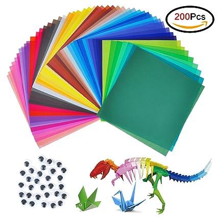 Papel para origami, jingxu, 200 hojas, papel para ...