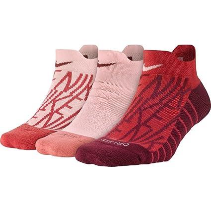 Nike W NK Performance Cushion Low 3pr de GFX Entrenamiento Calcetines 3 Pares, Mujer,
