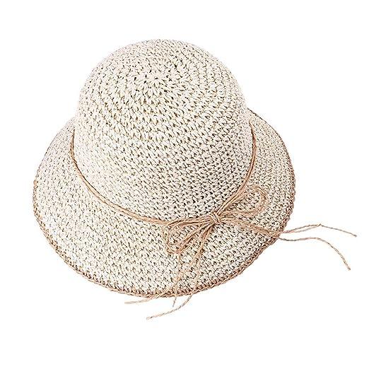 de7da82fa13e8 YQZB Women Sun Hat Foldable Cap Fisherman Hat Wide Brim Handmade ...