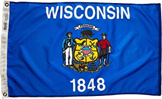 product image for Annin Flagmakers Model 145950 Wisconsin Flag Nylon SolarGuard NYL-Glo, 2x3 ft, 100% Made in USA to Official State Design Specifications