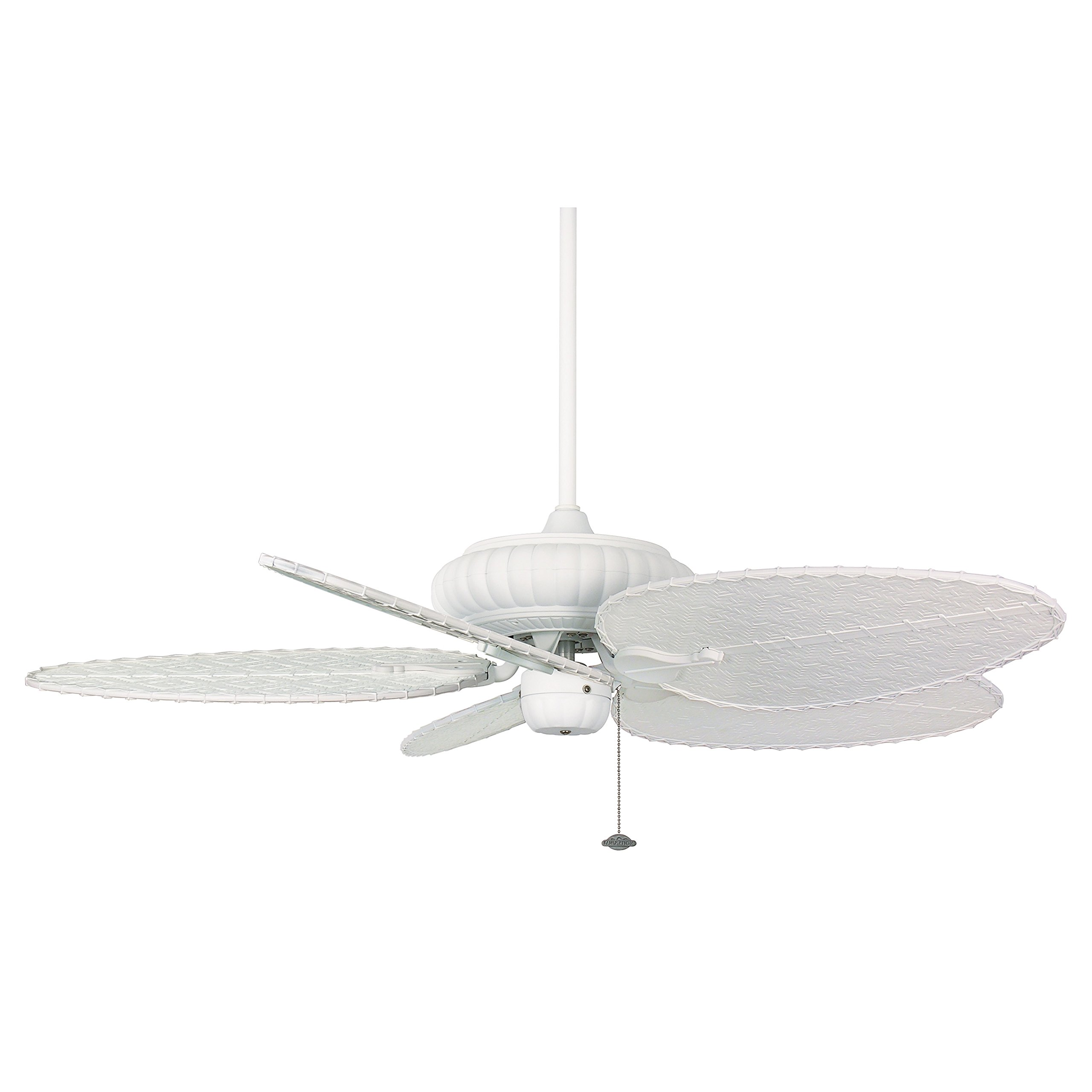 Fanimation FP4320MW1 Belleria Collection Ceiling Fan Motor Assembly 1 Inch Downrod Matte White Finis