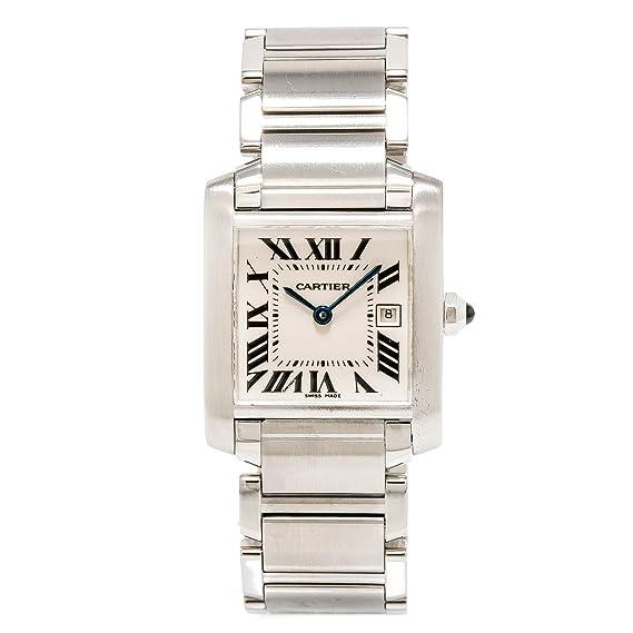 Cartier Tank Francaise Cuarzo Mujer Reloj 2465 (Certificado) de Segunda Mano: Cartier: Amazon.es: Relojes