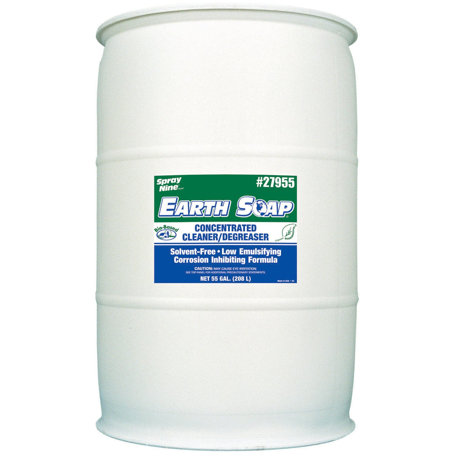 Spray Nine 27955 Earth Soap Concentrated Cleaner/Degreaser - 55 Gallon