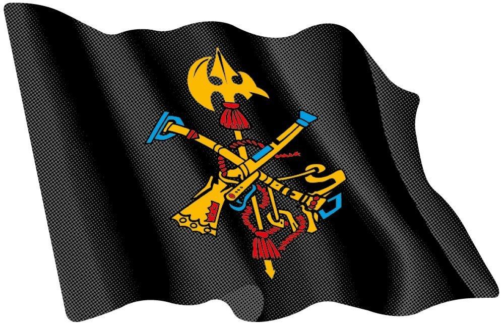 Artimagen Pegatina Bandera ondeante Logo Legió n Color 80 x 60 mm. Ediciones Imagina S.L.