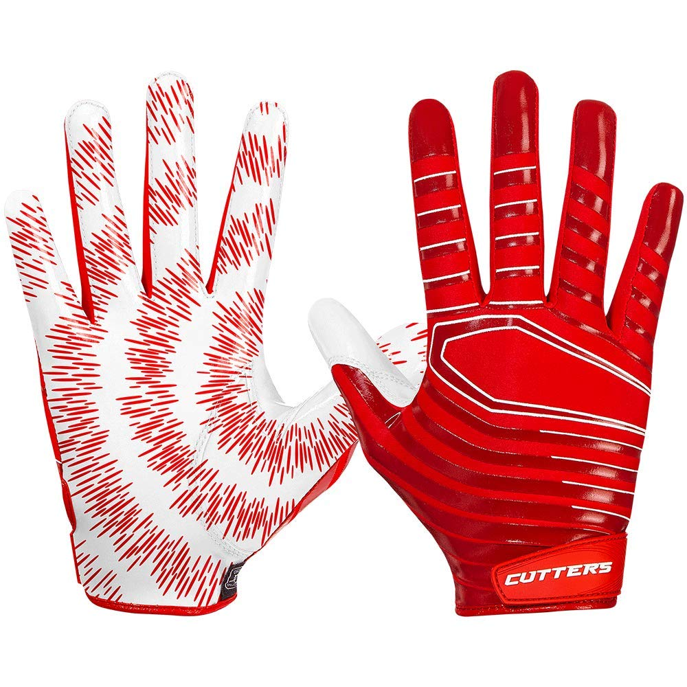 Cutters Gloves S252 Rev 3.0 Receiver Gloves, Red, X-Small
