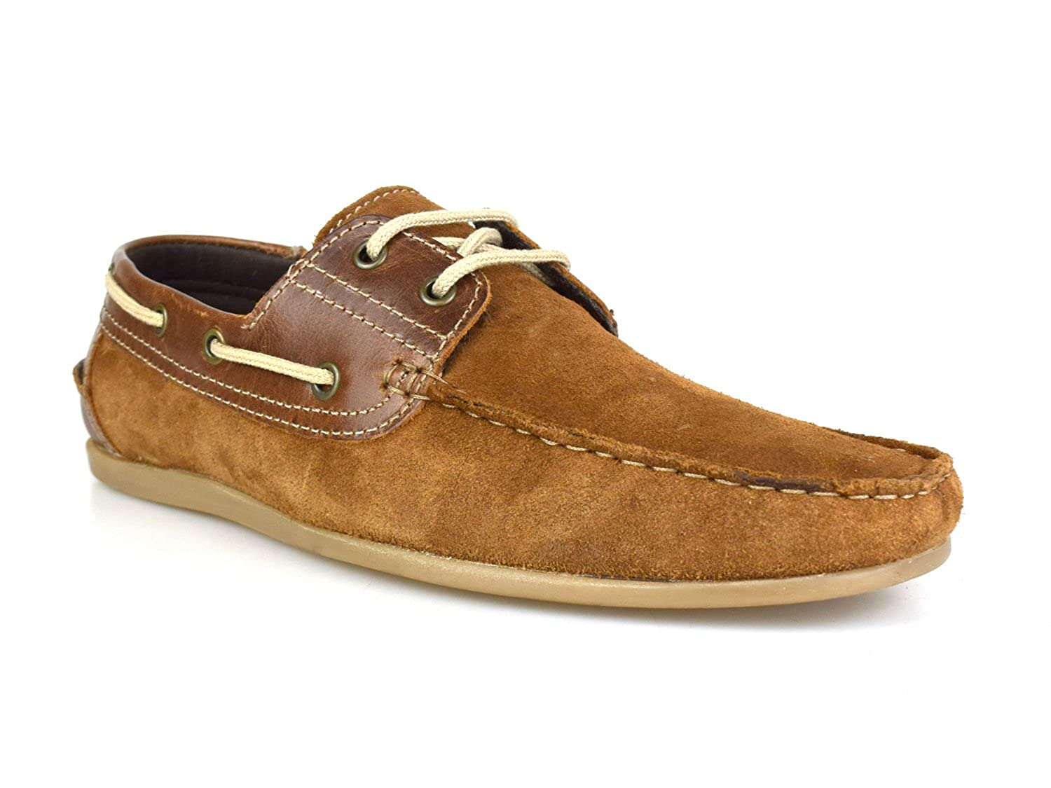 Red Tape Stratton Tan Suede Mens Casual Boat Shoes