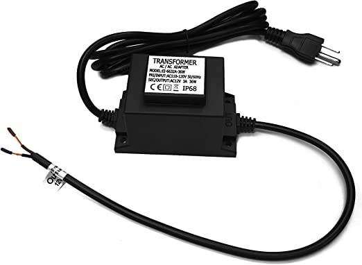 Cnbrighter Waterproof 12v Ac Transformer 3a 36w 110v 120v Ac To 12v Ac Led Power Supply Voltage Converter Led Driver Adapter For Outdoor Landscape Lighting Swimming Pool Light 36 Watts