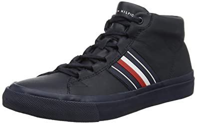 Sneakers Tommy Corporate Sneaker Homme Leather Hilfiger Mid Basses B77qPXFw
