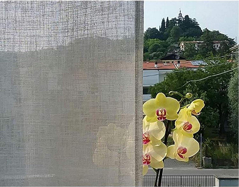 100/% Polyester Effet Lin Hauteur cm 320 Naturale Blanc Tissu pour Voilage et vitrage Rideaux au m/ètre