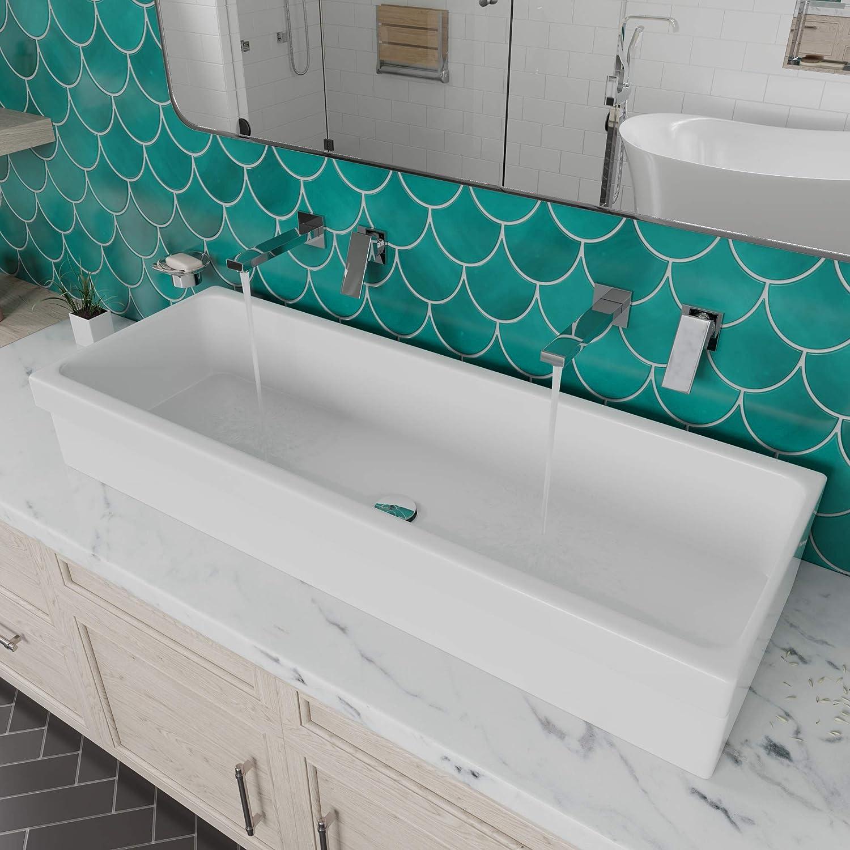 alfi brand ab48tr bathroom trough sink 48 white