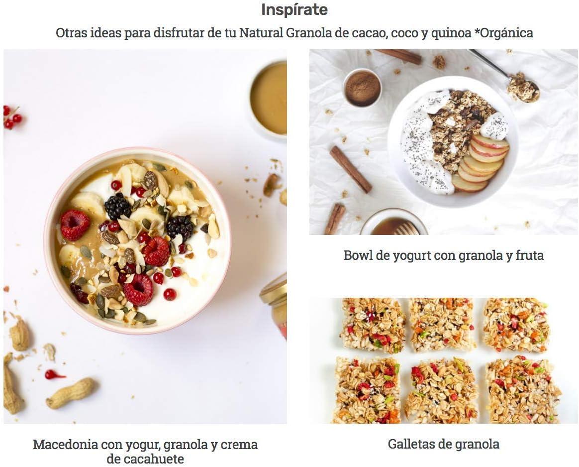 Granola Natural Athlete, Frutos Secos y Semillas BIO, Sin Azúcar ...