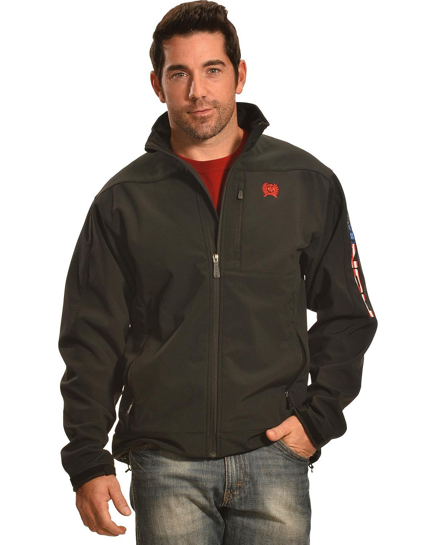 Cinch Men's American Flag Logo Bonded Jacket Black X-Large