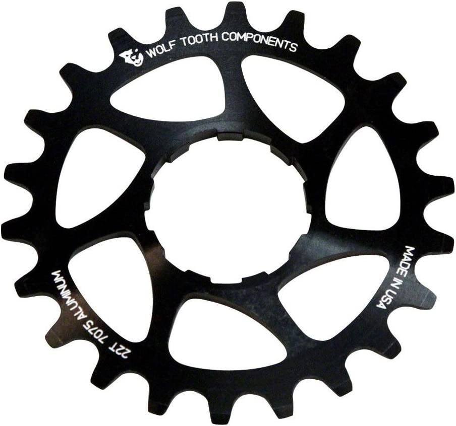"Wolf Tooth Components Single Speed Bike 22t Cog 3//32/"" Blue"