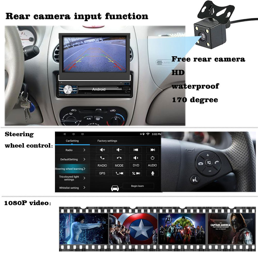 amazon com yody single din android 6 0 in dash car stereo with rh amazon com Car Audio Subwoofers Car Auido