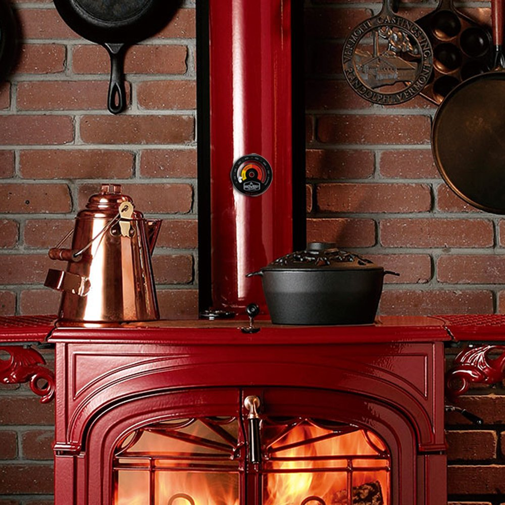 Midwest Hearth Wood Stove Thermometer Magnetic Stove Top Meter