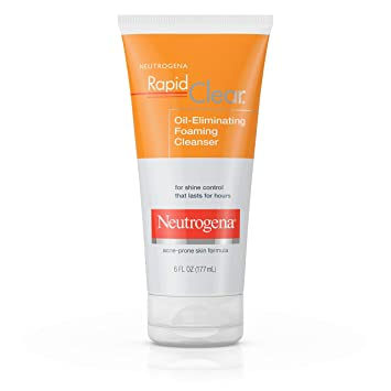 Neutrogena Rapid Clear Oil-Eliminating Foaming Facial Cleanser For Oily and  Acne-Prone Skin,