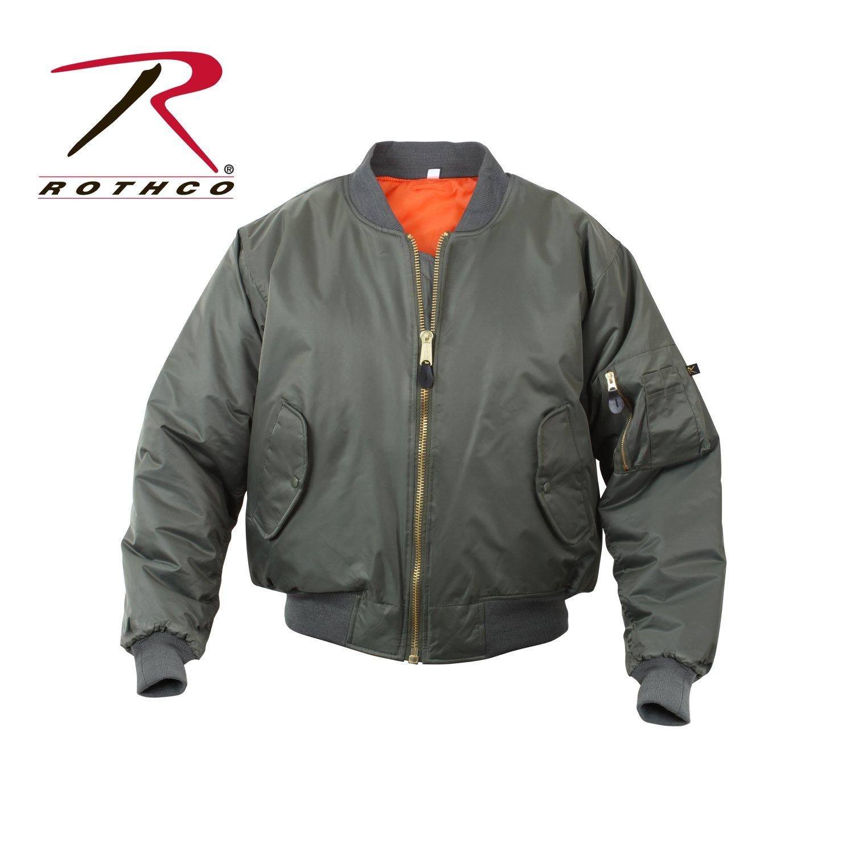 Rothco Kids Ma-1 Flight Jacket-Sage, Small