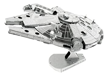 STAR WARS - Metal Earth Millennium Falcon, maqueta metálica, Color Gris (Fascinations MMS251)