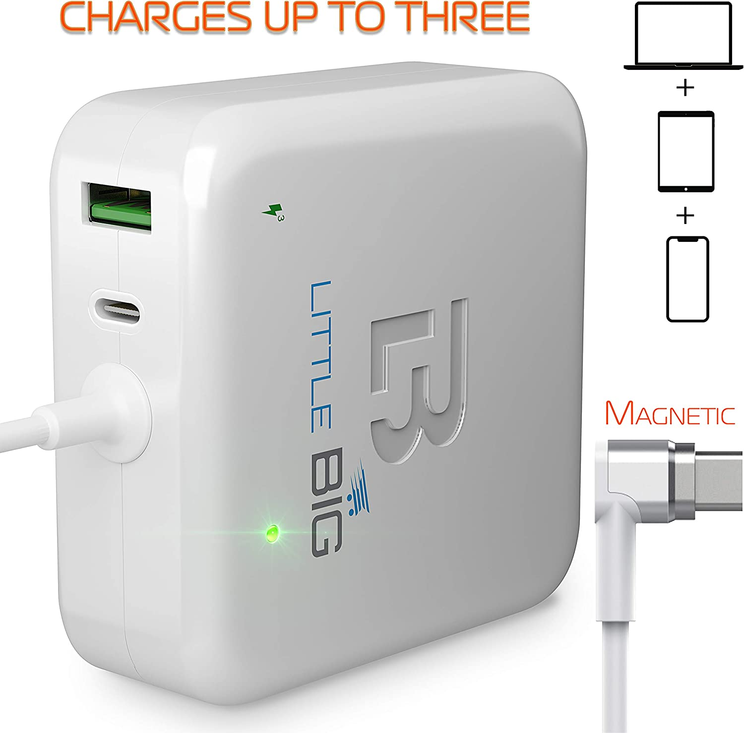 MacBook Pro Charger 61W USB C - Laptop PD Type C Charger Compatible with Late 2016 and UP Apple MacBook Pro 11 inch & 13 inch | Charge Phone, Tablet, Mac from One Plug | Mac Charger Power Adapter