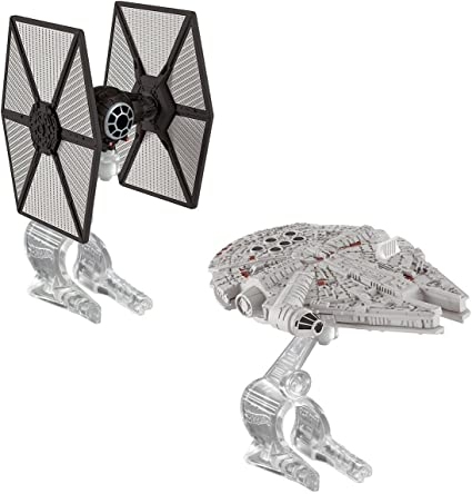 Star Wars the force awakens Hot wheels tie fighter vs milennium falcon set