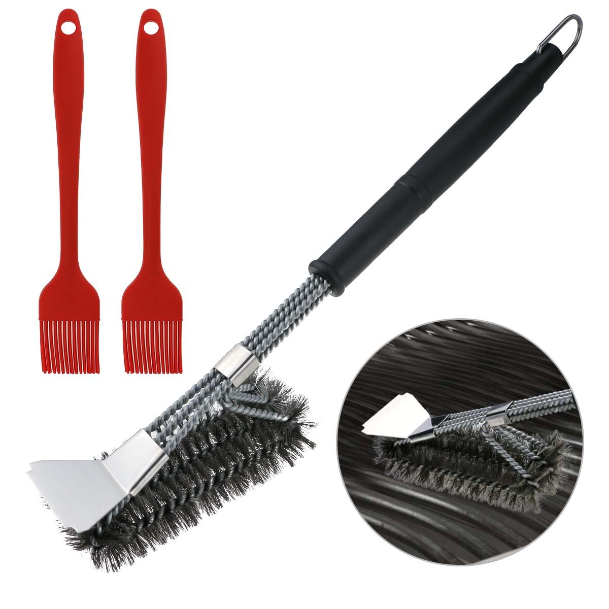 Fixget BBQ Grill Brush, 3 in 1 18