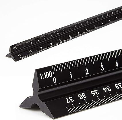 """30 cm Aluminium échelle /& 12/"""" Acier Règle Ingénieurs Architectes Technique Dessin"""