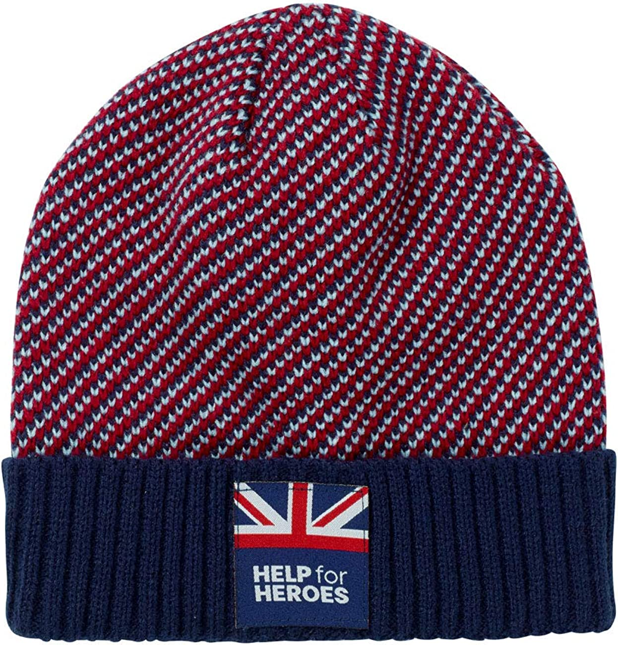 Help for Heroes Woolly Beanie Hat in Tri Colour