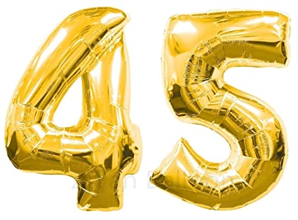 Amazon ZIYAN 40 Inch Giant 45th Gold Number BalloonsBirthday