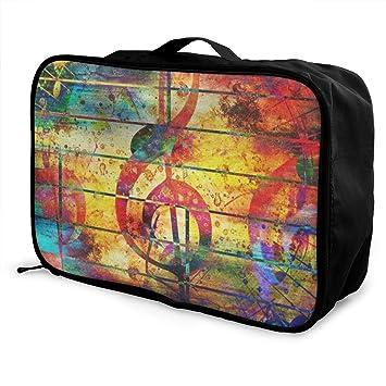 Amazon.com: Bolsas de viaje para notas musicales portátiles ...