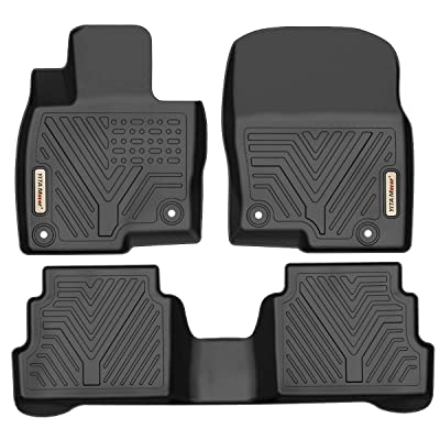 YITAMOTOR Floor Mats Compatible with Mazda CX-5, Custom fit Floor Liners for 2020-2020 Mazda CX5, 1st & 2nd Row All Weather Protection: Automotive
