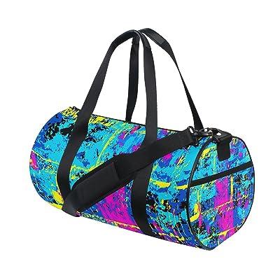 Gym Bag Graffiti Colorful Street Art Sports Travel Duffel Lightweight Canvas Bag